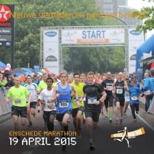 Nieuwe starttijden en parcours Enschede Marathon 2015 bekend
